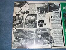 "1948 Ford Coupe Vintage Article ""Star Trek Street Rod"" Crazy Custom Interior"