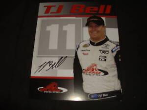 2009 T.J. BELL #11 RED HORSE SIGNED NASCAR POSTCARD