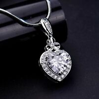 Antique Swarovski Crystal Pendant Silver Gold Filled Chain Necklaces Jewellery