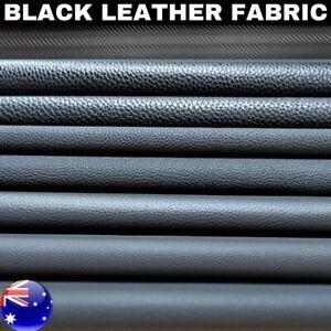 Black Auto Upholstery Marine grade Vinyl Fabric Faux Leather PVC Furniture Boat