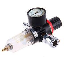 "UK 1/4"" BSP Air Compressor Moisture Trap Oil Water Filter Regulator Lubricator"