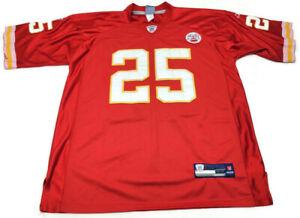 Kansas City Chiefs #25 J. Charles Vintage NFL Equip Reebok On Field Jersey Sz 52