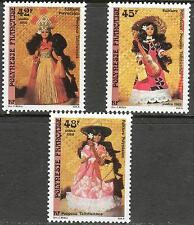 French Polynesia 1988 Folklore Dolls set of 3 MNH**
