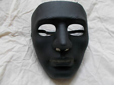 HIP HOP JABBAWOCKEEZ BLACK PVC FACE MASK FANCY DRESS HALLOWEEN COSTUME PARTY
