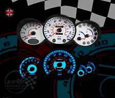 Hyundai coupe speedo clock gauge dash panel light bulb white dial kit