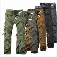 Korean Casual Military Cargo Pants Men's Multi-pocket Chic Trousers Trend Pants