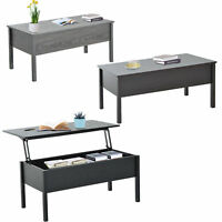 HOMCOM Wood Coffee Table End Table With Lift Top Storage Shelf Home Furniture