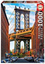 Puzzle Educa 17100 Puente de Manhattan, 1000 piezas, New York, bridge, teile
