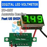 Mini Green DC 0-30V LED Display Digital Voltage Voltmeter Panel For Arduino Rasp