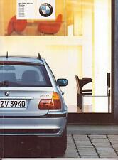 BMW 3 series Touring 2001 BROCHURE produced in Milan