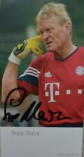Sep Maier German Football Goal Keeper Legend Signed/ Autographed Photo with COA