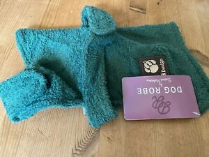 green dog coat/robe new with tags