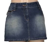 SG DNM BLUE DENIM COTTON BLEND MINI SKIRT SIZE 12