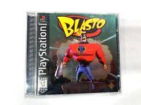 BLASTO Original Black Label SONY PLAYSTATION 1 PS1 Game COMPLETE CIB Tested!