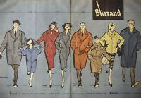 PUBLICITÉ DE PRESSE 1958 LE VRAI BLIZZAND DE BOUSSAC QUALIYÉ DE L'IMPERMÉABILITÉ