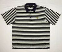 Masters Clubhouse Collection Mens Golf Polo Shirt Sz Large S/S Purple Striped C1