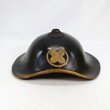 B137: REAL old Japanese lacquered SAMURAI military hat JINGASA for DAIMYO class