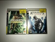 Playstation 3 Uncharted: Drake's Fortune and Assasins Creed
