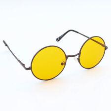 Marco De Plata 4.5cm Lentes naranjas espejados Unisex John Lennon Tipo Gafas de sol