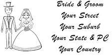 48 LARGE PERSONALISED WEDDING RETURN ADDRESS LABEL STICKERS GIFTS BOMBONIERE