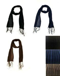 Ladies chiffon scarves Tasselled Neck Wrap Soft Light Feel Sheer Scarf Stole