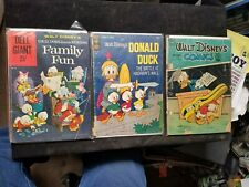3 Silver Age Gold Key & Dell Disney Comic Books Donald Comics & Stories Giant 38