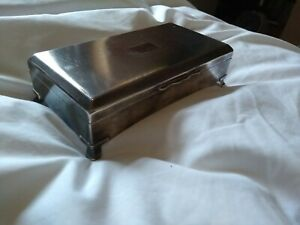 Aristocrat Vintage Silver Plated Cigarette/Cigar Box by Harman Brothers