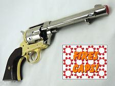 Kolser Replica M1873 FRONTIER PISTOL Colt Revolver Cap Gun Nickel Finish Prop