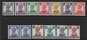 INDIA-PATIALA SG103/15 1941-5 OVERPRINTS ON INDIA SET MTD MINT