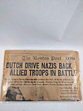 Newspaper Boston Post May 11 1940 Dutch Drive Nazis Back Allied Troops In Battle