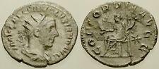019. Roman Silver Coin. VOLUSIAN. AR Antoninianus. Rome. Concordia. aVF