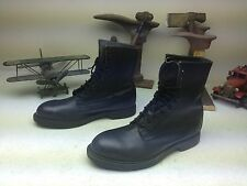 VINTAGE WOLVERINE STEEL TOE BLACK LEATHER LACE UP MOTORCYCLE BOOTS SIZE 11 D