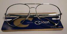 Vintage Cottet Pilot Silver 60 Made in France Aviator Eyeglass Frame NOS #S1