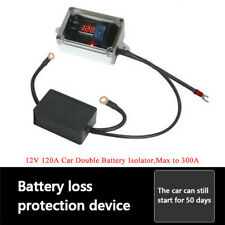 Double Battery Isolator Protector Controller Max 300A 12V for RVs, Off-road Car