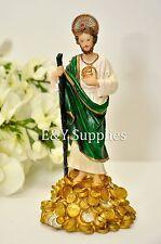 "New 7"" Inch Statue of Saint Jude San Judas Tadeo Estatua St Santo Figurine"