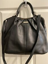 Kate Spade Black Pebbled Leather Satchel Crossbody Shoulder Bag Purse Polka Dot