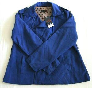 Next Women's Lightweight Double Breasted Blue Jacket UK Size 12 BNWT RRP £26