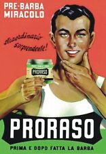 "TARGA VINTAGE ""1950 PRORASO"" Pubblicità, BARBER SHOP, Advertising, Poster Plate"
