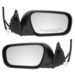 New Pair Set Power Side View Mirror Glass Housing for 95-99 Sentra 95-98 200SX