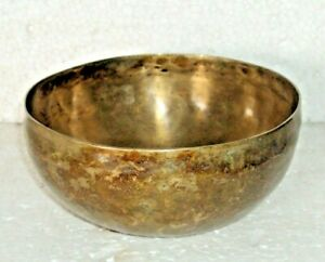 Vintage Old Brass Hand Carved Engraved beautiful singing bowl Great Sound