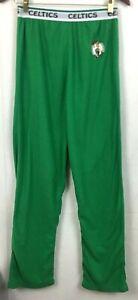 Boston Celtics UNK NBA Lounge Pants Green Fleece Leprechaun Logo Size Small