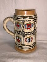 Vintage WEST GERMANY 1/2L CITY CREST Coat Arms Shield STEIN Mug ORIGINAL KING 8