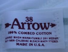 Nos Vtg Arrow 100% White Combed Cotton sz 38 Unworn Briefs Usa Made