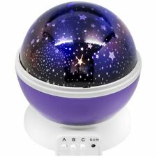 LED Night Light Color Changing Rotating Sky Moon and Star Projection Lamp