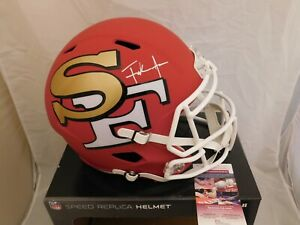 Frank Gore Signed / Autographed 49ers Full Size AMP Speed Helmet JSA COA