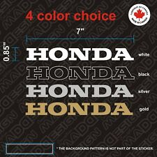 2X Honda STICKERS  vinyl decal 7'' autocollant White - Black - Silver or Gold