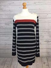 Hi By Henry Holland Debenhams Women's Casual Long Black Striped Jumper UK 12