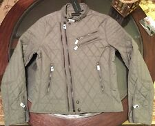 Ralph Lauren Black Label Grand Prix Waxed Moto Jacket Slim Fit Sz Small New Tag