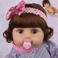 "18""Full Body Vinyl Silicone Reborn Baby Doll Handmade Anatomically Girl Gift Toy"