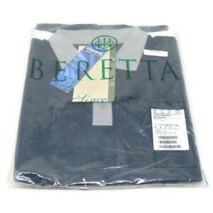Beretta Women's Silver Pigeon PP Polo Shirt Blue Navy & Silver L Short Sleeve